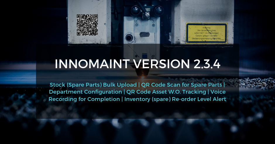 InnoMaint Release of Version 2.3.4 – Released on 22nd April