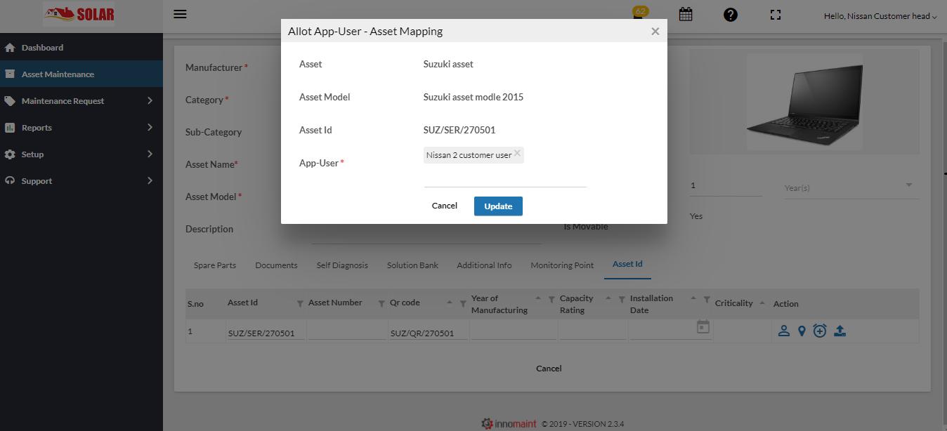 FSM-Customer user login