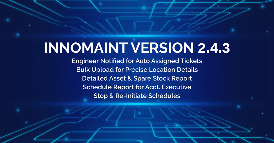 Innomaint Release of Version 2.4.3